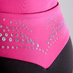 Short voor damesturnen roze tailleband en lovertjes