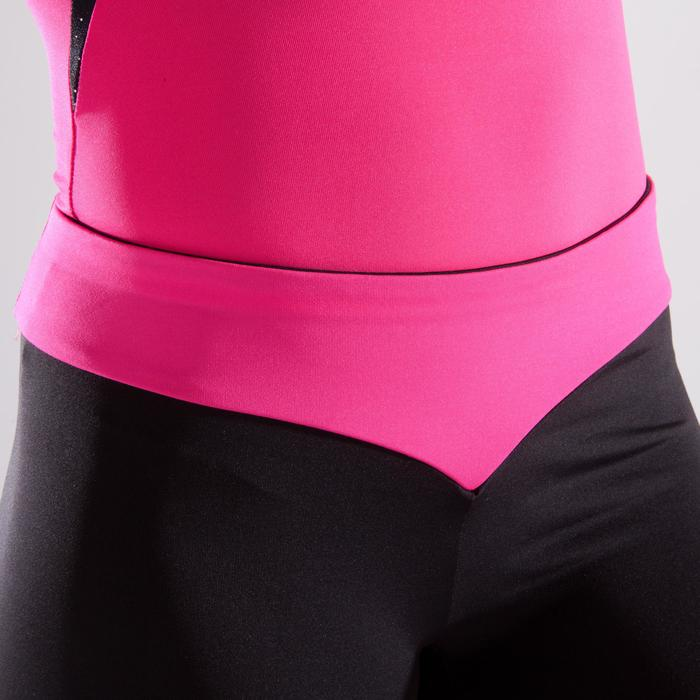 Short met roze tailleband en lovertjes