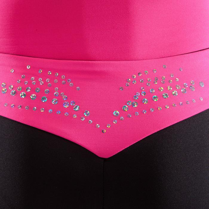 Gymnastikhose kurz Bund Pailletten rosa