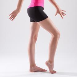 Short de gymnastique artistique féminine ceinture rose sequins