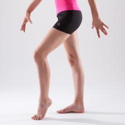 Short de gimnasia artística femenina cinturón rosa lentejuelas