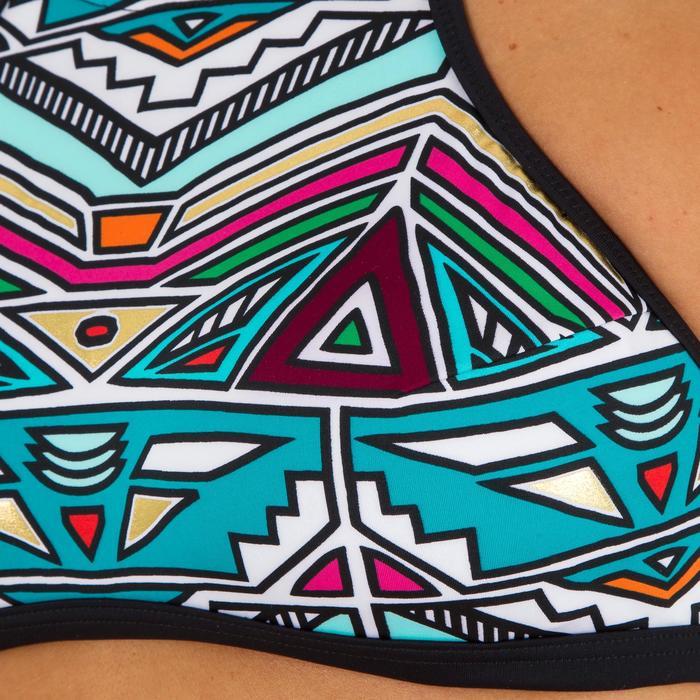 Top Bikini Surf Sujetador Deportivo Olaian Ajuste Espalda Andrea Mujer Estampado