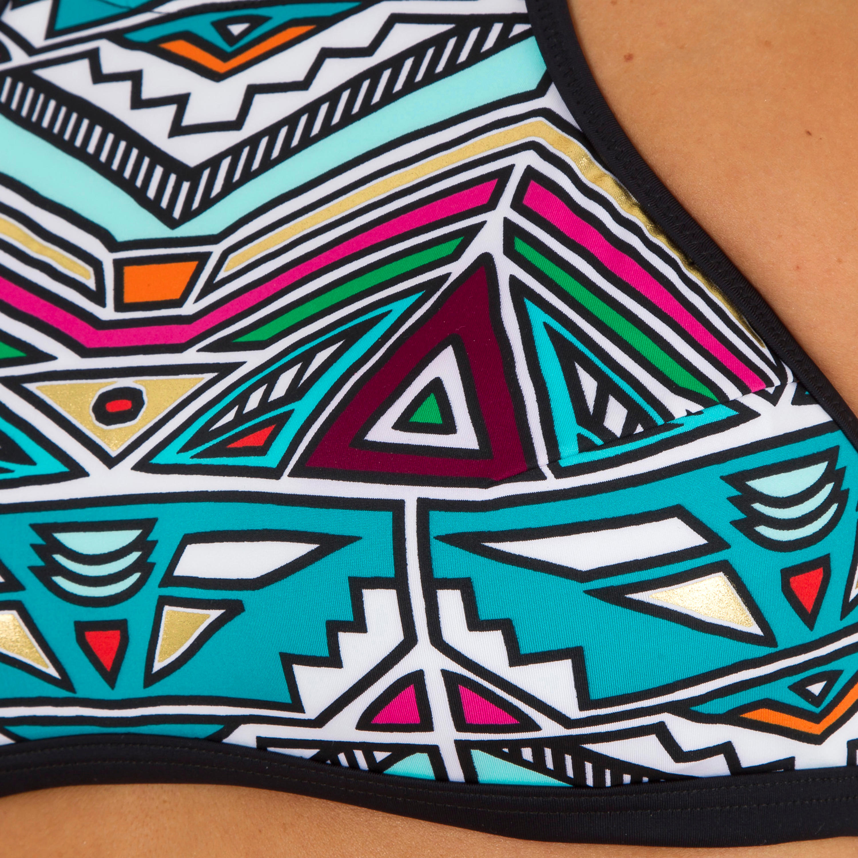 Women's Surfing Crop Top Swimsuit Top with Padded Cups - Andrea Ncolo