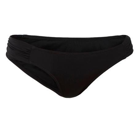Bas de maillot de bain de surf Niki noire plissée côté - Femmes