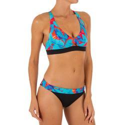 Bikini Surf Sujetador Deportivo Olaian Doble Ajuste Espalda Agatha Mujer Turques
