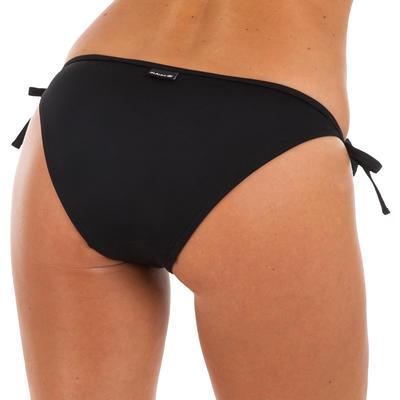תחתוני נשים עם קשירה בצד דגם סופי - שחור
