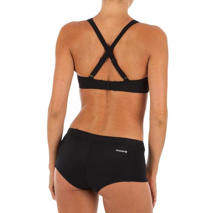 Bikinibroekje met shortymodel Vaiana zwart met aantrekkoordje