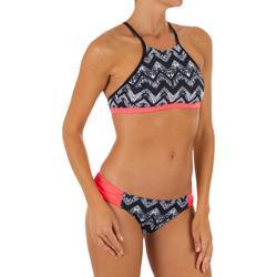 Top Bikini Surf Sujetador Deportivo Olaian Mujer Ajuste Espalda Andrea Tribal