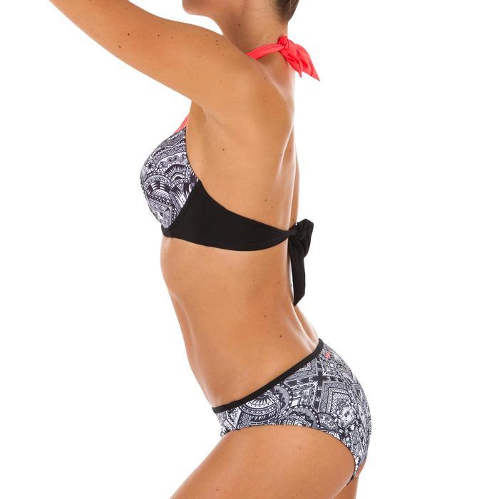 Top Bikini Surf Sujetador Push Up Olaian Elena Mujer Copas Fijas Negro Maori