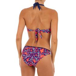 Top Bikini Surf Sujetador Push Up Olaian Elena Foly Mujer Copas Fijas Rojo Fluor