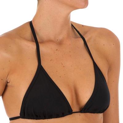 חלק עליון של בגד ים משולשים מרופד לנשים דגם Mae - שחור