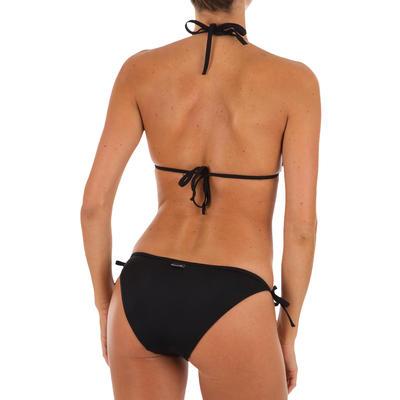 Mae Women's Plain Sliding Triangle Bikini Swimsuit Top - Black