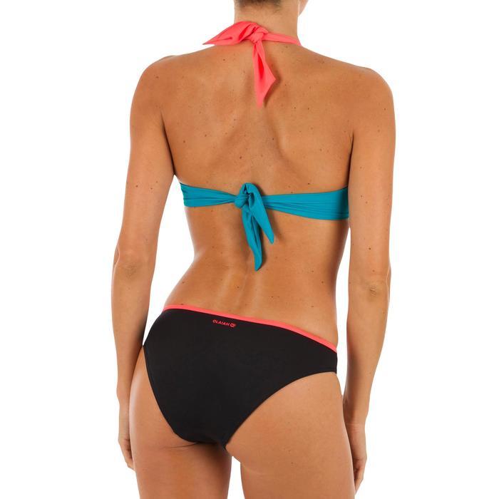 TTop Bikini Surf Sujetador Push Up Olaian Elena Mujer Copas Fijas Negro Coral