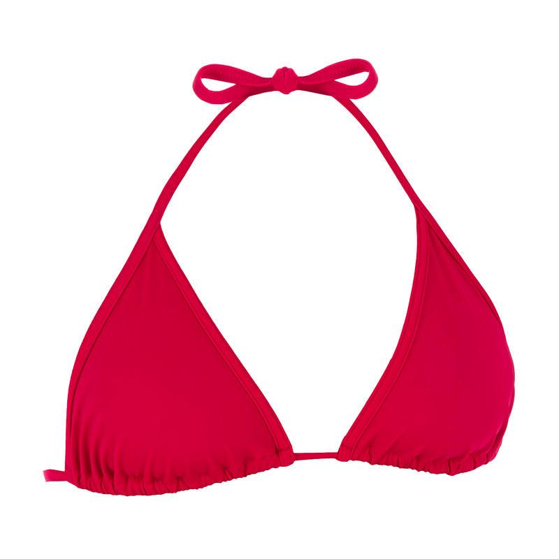 Top de bikini mujer con triángulos corredizos MAE ROJO