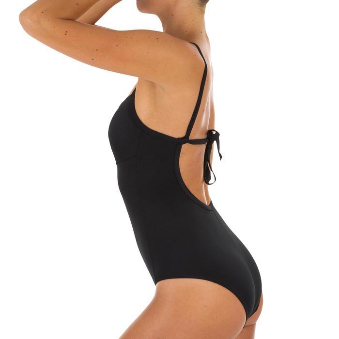 Bañador Surfero Olaian Cloe Mujer Tirantes Modulables Espalda Negro