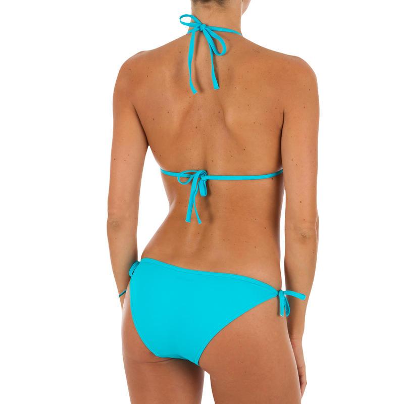 บิกินี่ชิ้นล่างแบบผูกเชือกด้านข้างสำหรับใส่ว่ายน้ำและโต้คลื่นรุ่น Sofy (สีฟ้า Turquoise)