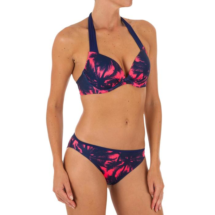Women's push-up swimsuit top with fixed padded cups ELENA POLY