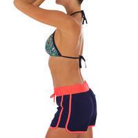 Boardshort surf femme TINI COLORB avec ceinture élastique et cordon de serrage