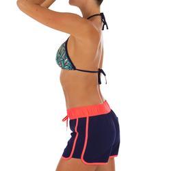 Boardshort de surf mujer TINI COLORB con cintura elástica y cordón de ajuste