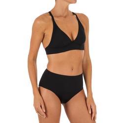 Braguita de bikini de surf para mujer talle alto ROMI NEGRO