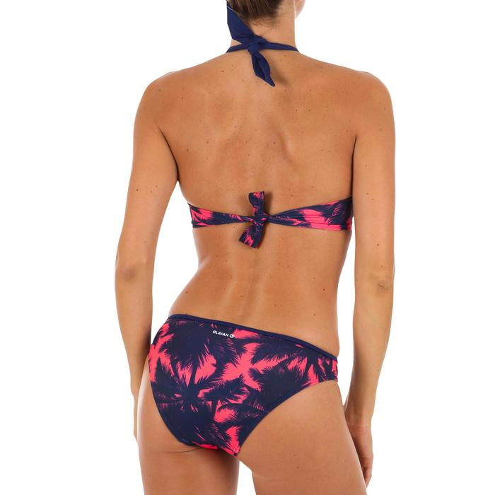 Top Bikini Surf Sujetador Push Up Olaian Elena Mujer Copas Fijas Palmeras Fluor