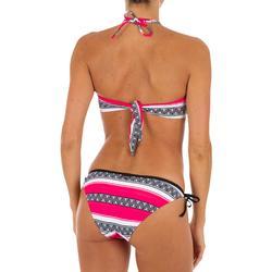 Top Bikini Surf Palabra de Honor Olaian Laura Mujer Bandeau Tirantes Rosa Negro