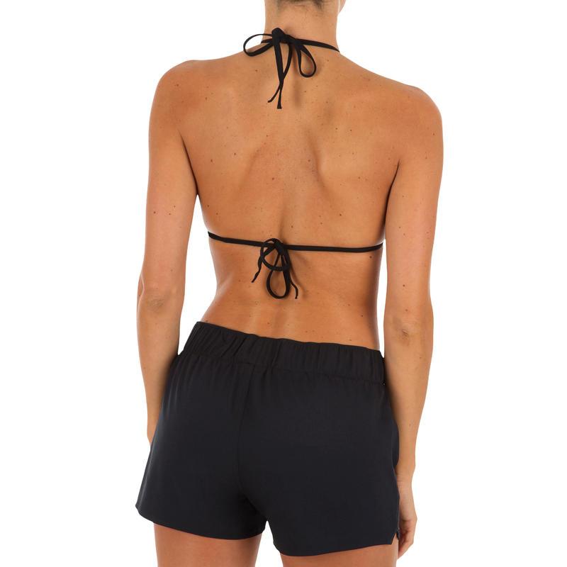 Top de bikini mujer triángulos corredizos con copas MAE NEGRO