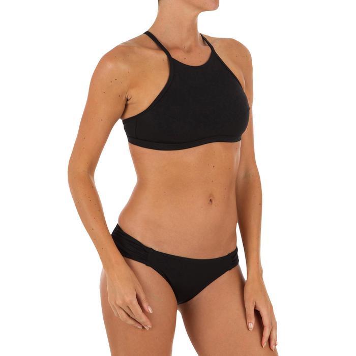 Braguita de bikini de surf mujer plisado lateral NIKI NEGRO