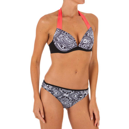 Women's Push-Up Swimsuit Top with Fixed Padded Cups ELENA MAORI