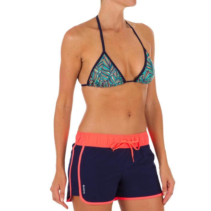 Boardshort mujer TINI COLORB con cintura elástica y cordón de ajuste