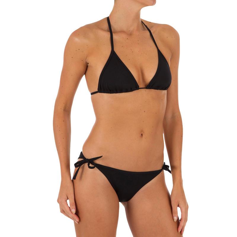 Top de bikini mujer triángulos corredizos MAE NEGRO