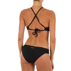 Bas de maillot de bain de surf femme plissée côté NIKI NOIR