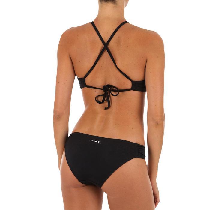 Dames bikinibroekje, gefronst opzij, voor surfen Niki zwart