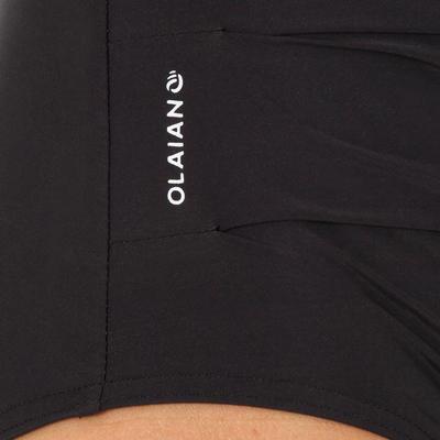 בגד ים מחטב שלם לנשים עם אפקט בטן שטוחה דגם דורה - שחור