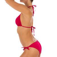 Haut de maillot de bain femme triangle coulissant MAE ROUGE