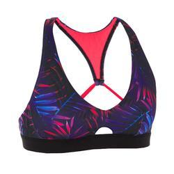 短版上衣泳裝上衣(雙重可調式背部設計)AGATHA-棕櫚款