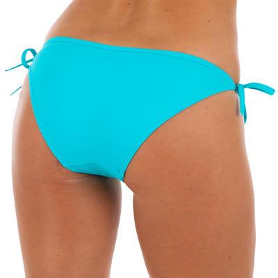 בגד ים חלק תחתון לנשים עם קשר בצד מדגם Sofy - טורקיז