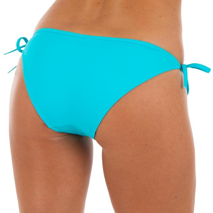 Braguita de bikini de surf mujer anudada a los lados SOFY AZUL TURQUESA