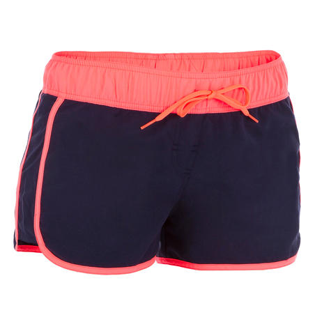 Women's boardshorts with elasticated waistband and drawstring TINI COLORB