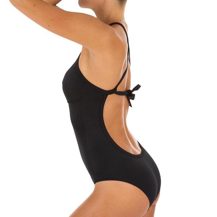 Bañador Deportivo Surf Olaian Andrea Mujer Espalda X Copas Desmontables Negro