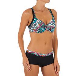 Top Bikini Surf Sujetador Con Aros Olaian Eden Mujer Doble Ajuste Espalda Negro