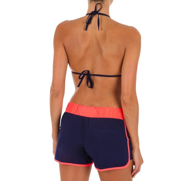 Boardshort voor surfen dames Tini Colorb elastische tailleband en aantrekkoordje