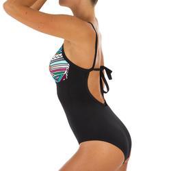 Bañador Deportivo Surf Olaian Cloe Mujer Escote Redondo Espalda Moldeable Tribu