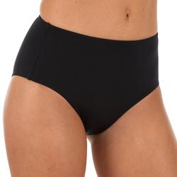Dames bikinibroekje met hoge taille voor surfen Romi zwart