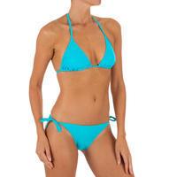 Bikini mujer panty anudada SOFY lisa azul claro
