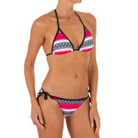 Top de bikini triángulos corredizos MAE basic GUARANA