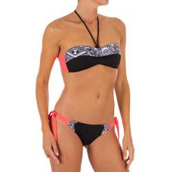 Bikini-Hose Sabi Maori seitlich gebunden Surfen Damen schwarz/weiß/rosa