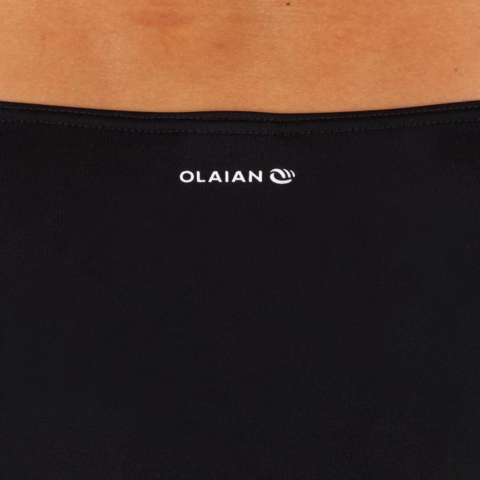 Bikini-Hose Niki seitlich gerafft Surfen Damen schwarz