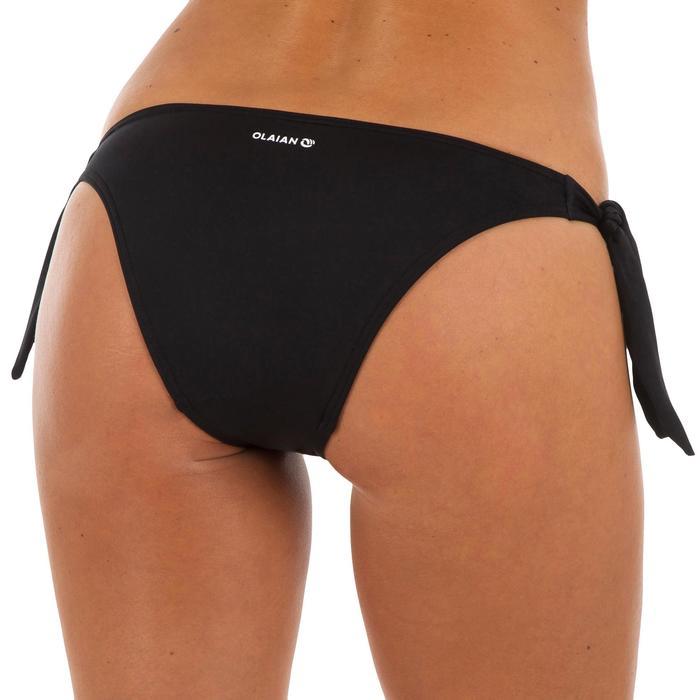 Braguita de bikini de surf mujer anudada corte de pierna alto SABI NEGRO