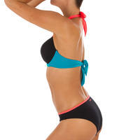 Women's push-up swimsuit top with fixed padded cups ELENA COLORBLOCK